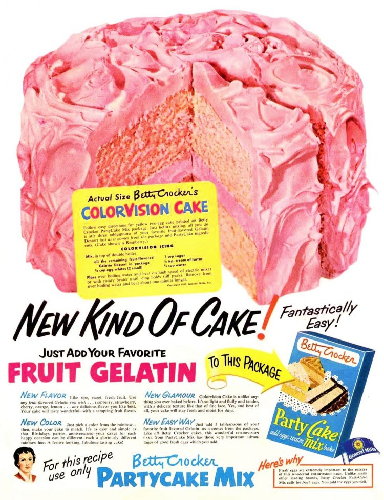ColorVision cake recipe 1950s (2)