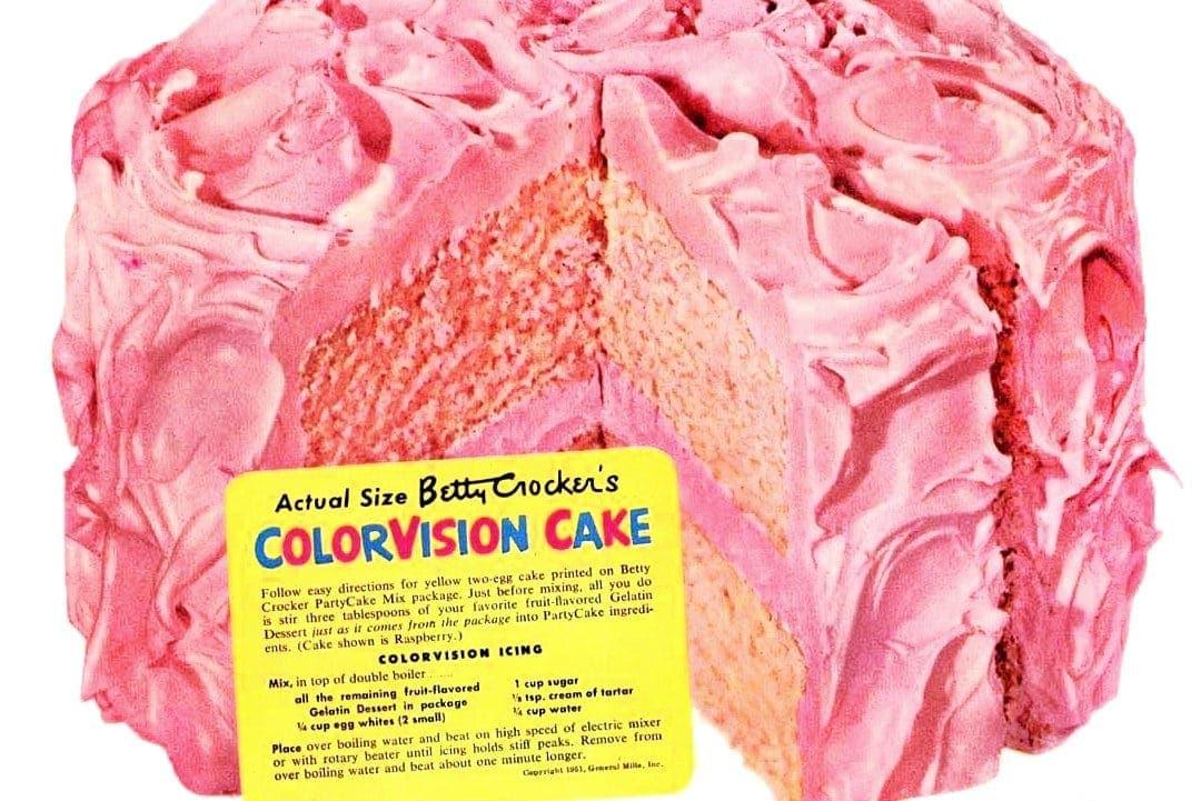 ColorVision cake recipe A fun retro dessert from the 50s