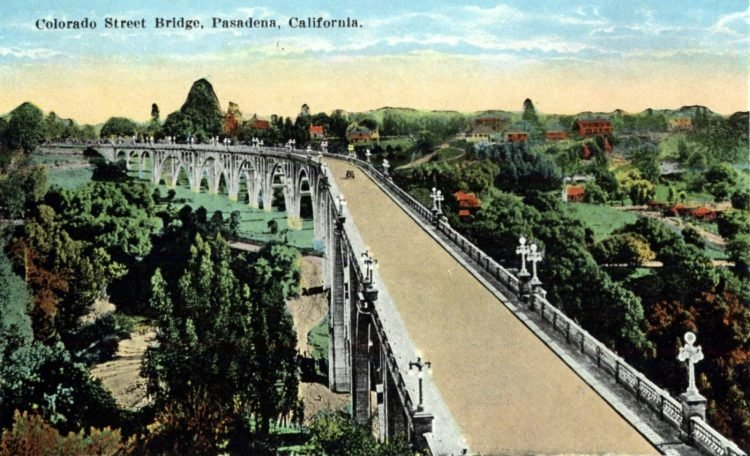 Colorado Street Bridge, Pasadena, California c1908