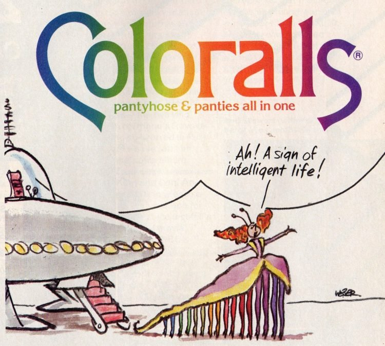 Coloralls tights and pantyhose from 1987