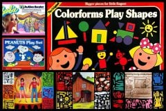 Colorforms, the vintage vinyl stick-on playsets that let kids stage scenes, create comics dress dolls