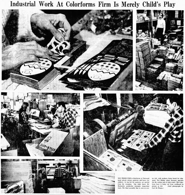 Colorforms toy production in 1965 - From The Record - Hackensack, New Jersey