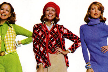 Colorful 70s fashions for women from 1974