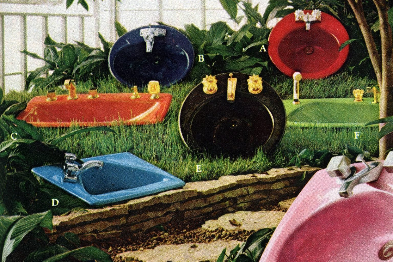 Colorful Kohler bathroom suites from the 1960s and 1970s