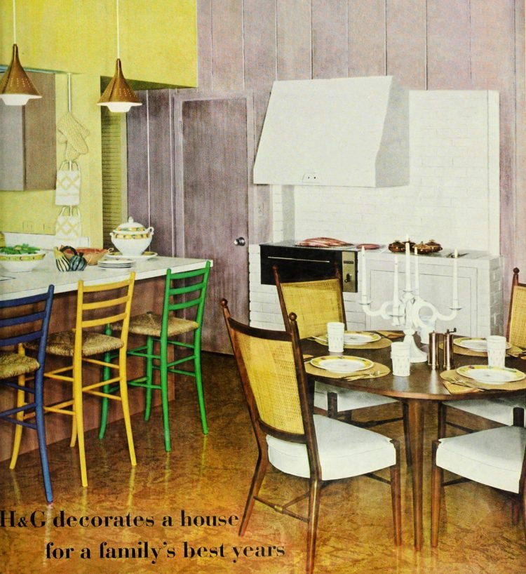 Colorful kitchen decor from the 1960s
