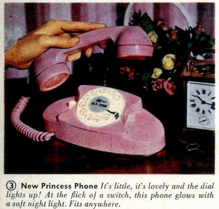 Colorful pink Princess phones 1961