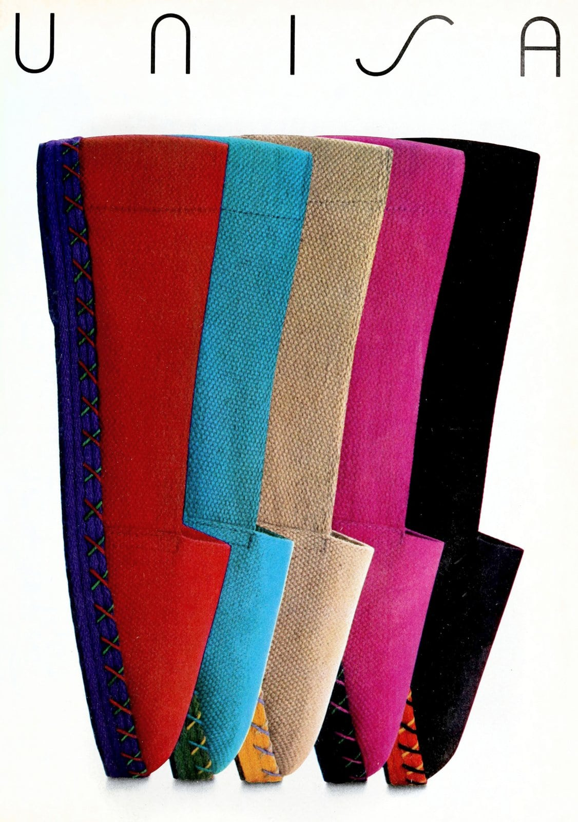 Colorful retro Unisa espadrilles (1984)