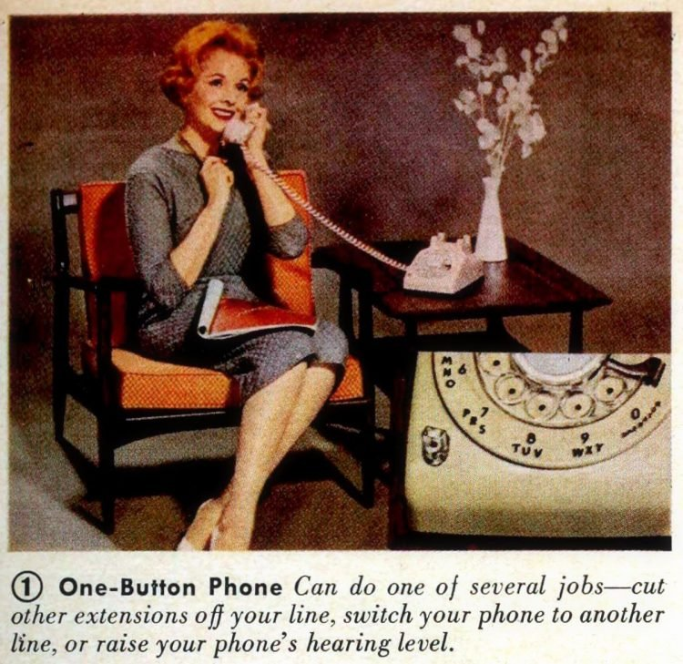 Colorful telephones from 1961- One-Button Phone