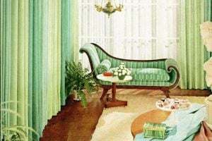Colorful vintage 1950s home decor How to be generous with color