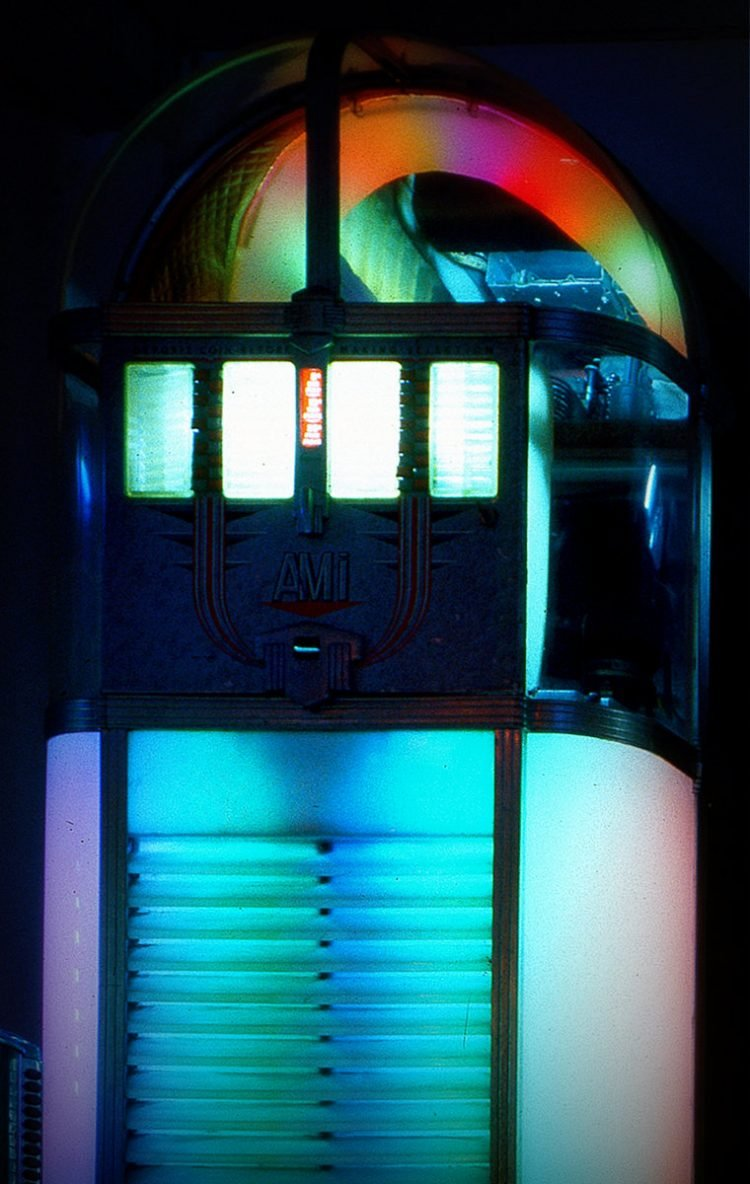 Colorful vintage jukebox machines (4)