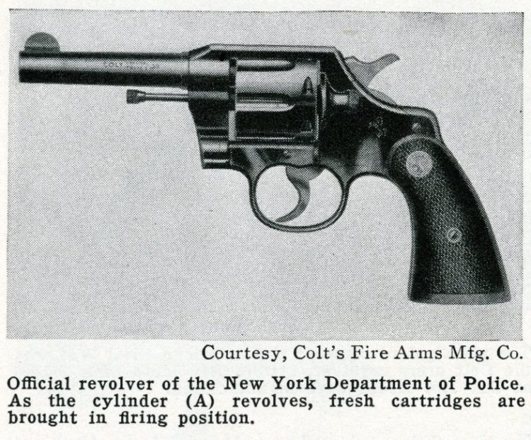 Colt guns - Official revolver of the New York Department of Police - 1930s and 1940s