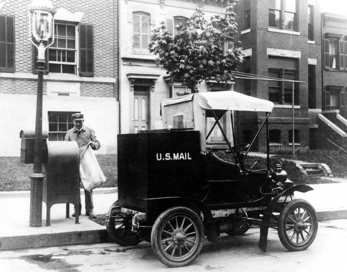 Columbia Mark 3 Mail Truck Baltimore Maryland 1906