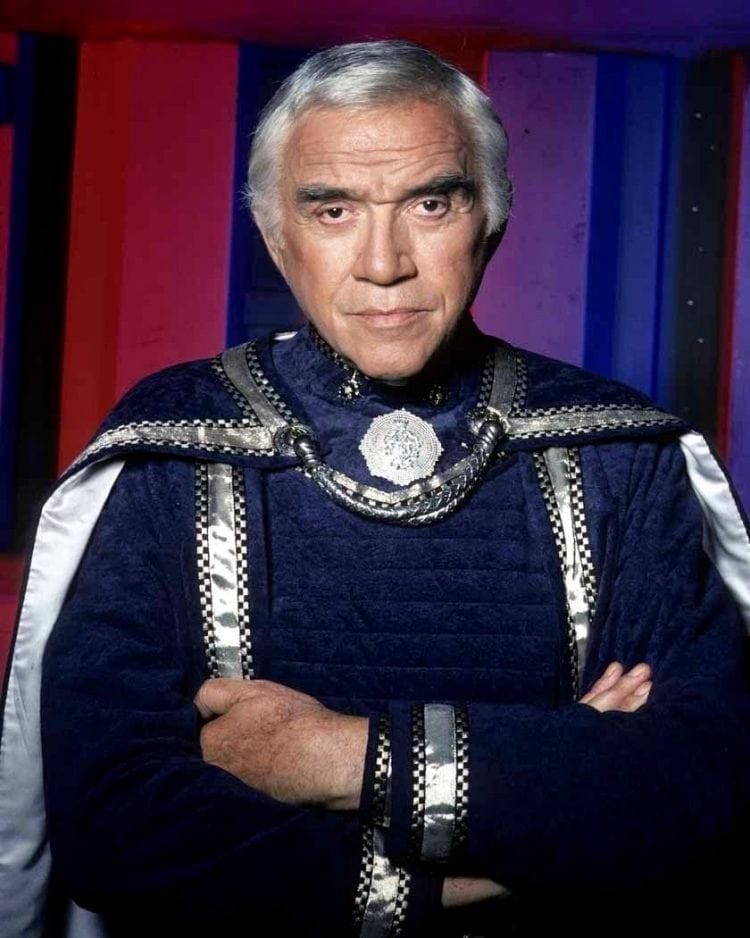 Commander Adama - actor Lorne Greene - vintage '70s Battlestar Galactica