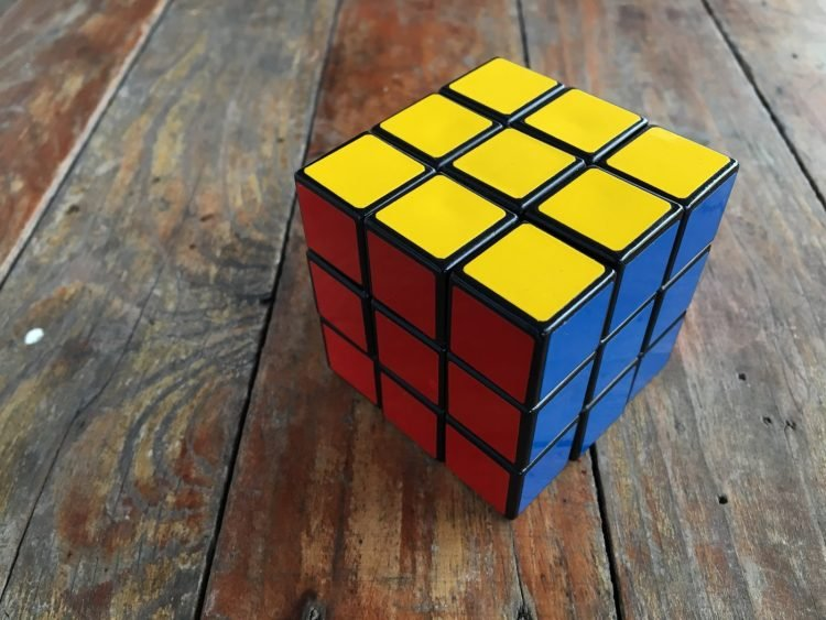 Completed Rubik's Cube puzzle