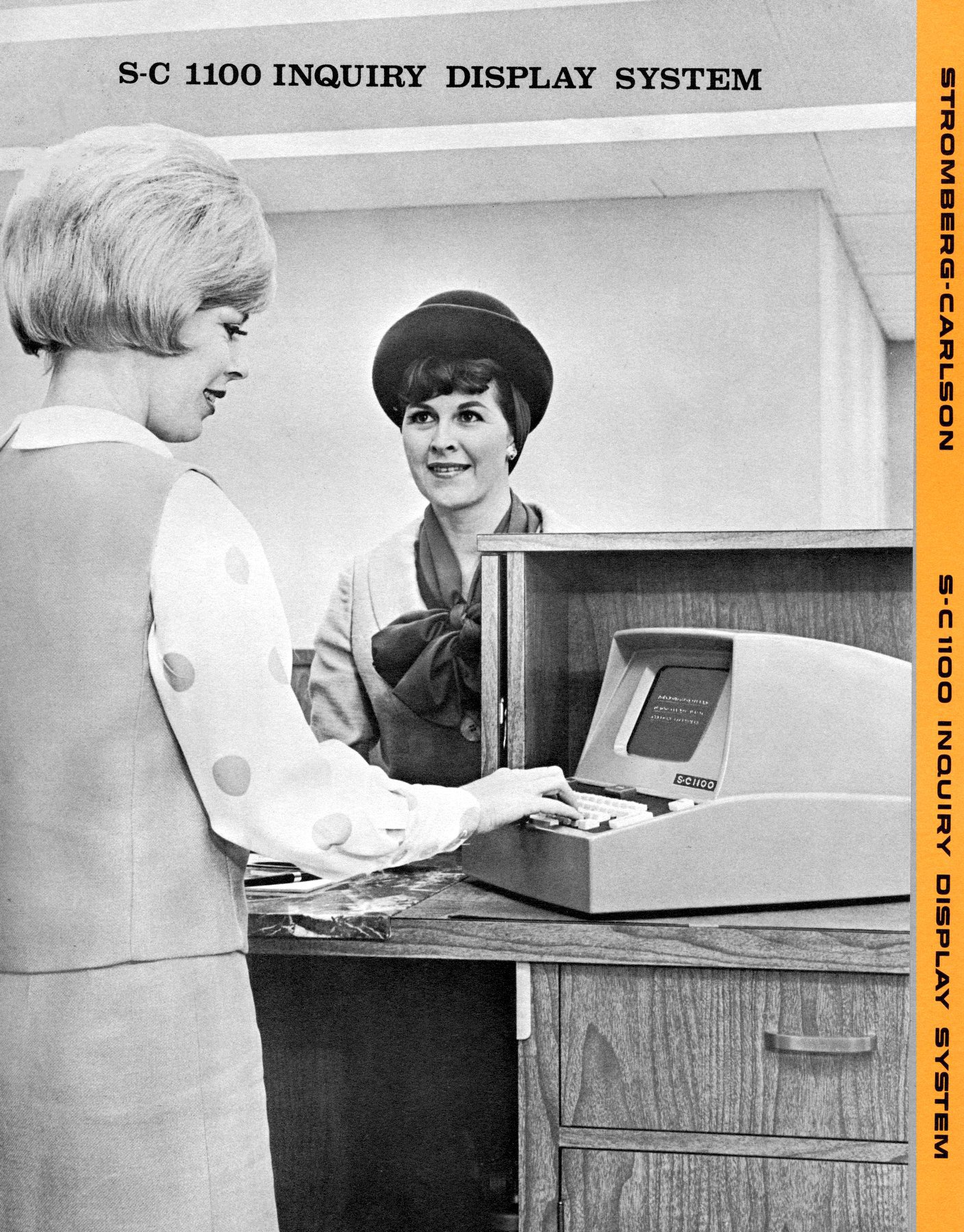 Computer at a bank - Teller in the 1960s