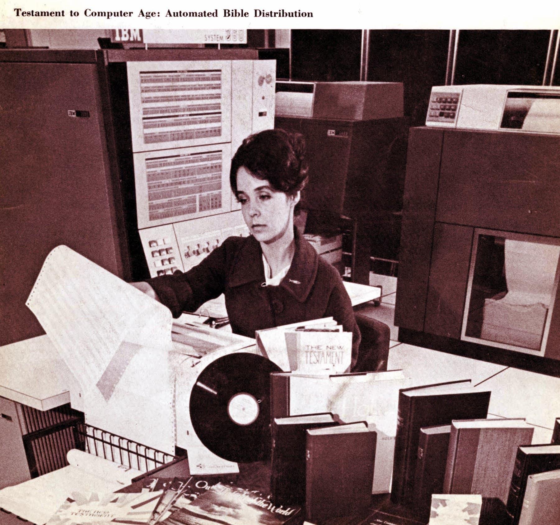 Computer-automated bible distribution (1967)