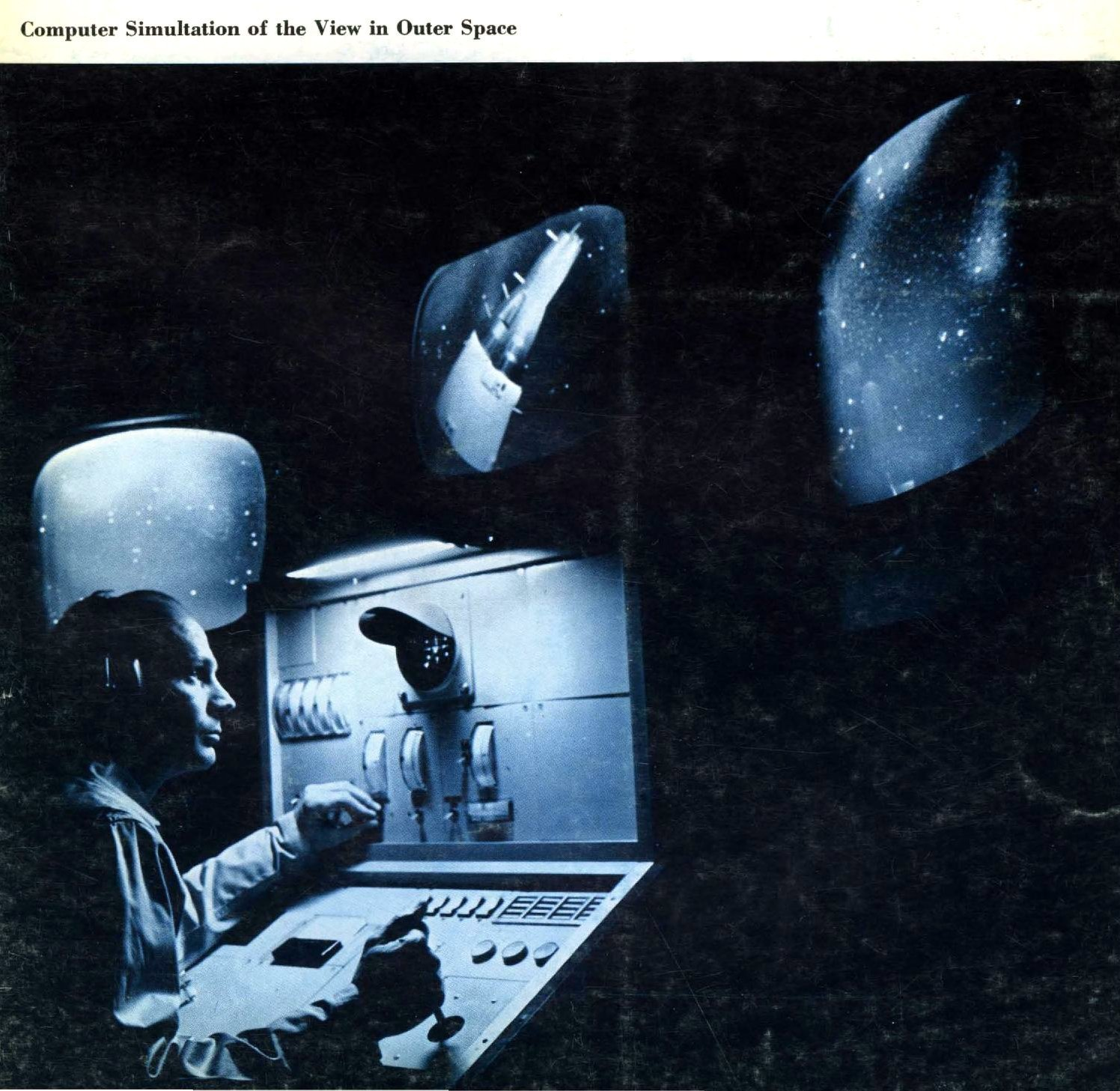 Computer simulation of the view in outer space (1965)