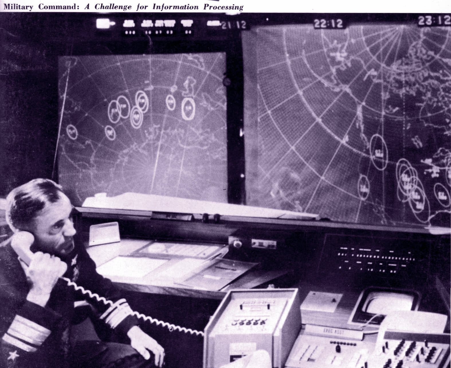 Computers at US military command (1963)