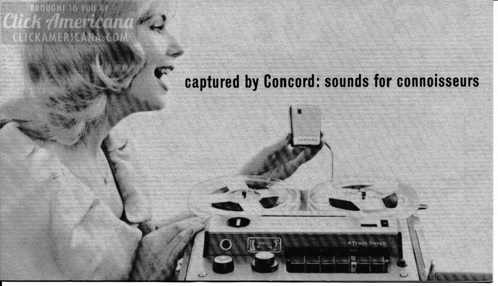 Concord 4-track tape players - 60s