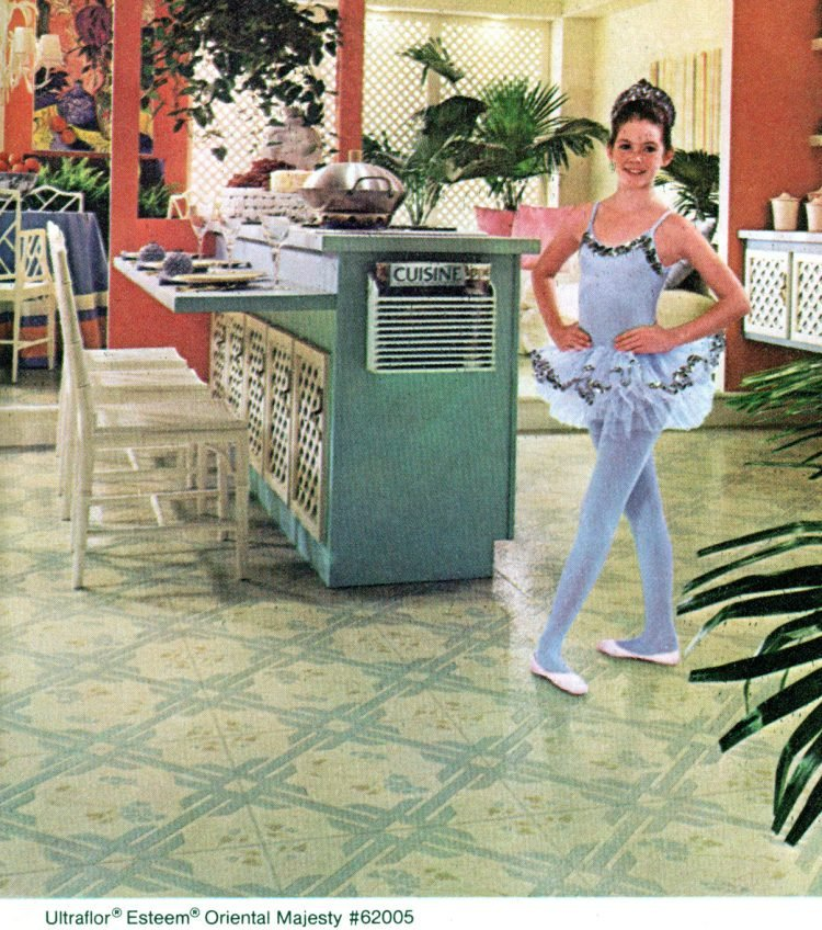 Congoleum vinyl floors for the kitchen from 1981 at ClickAmericana com (3)
