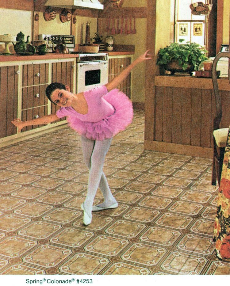 Congoleum vinyl floors for the kitchen from 1981 at ClickAmericana com (4)