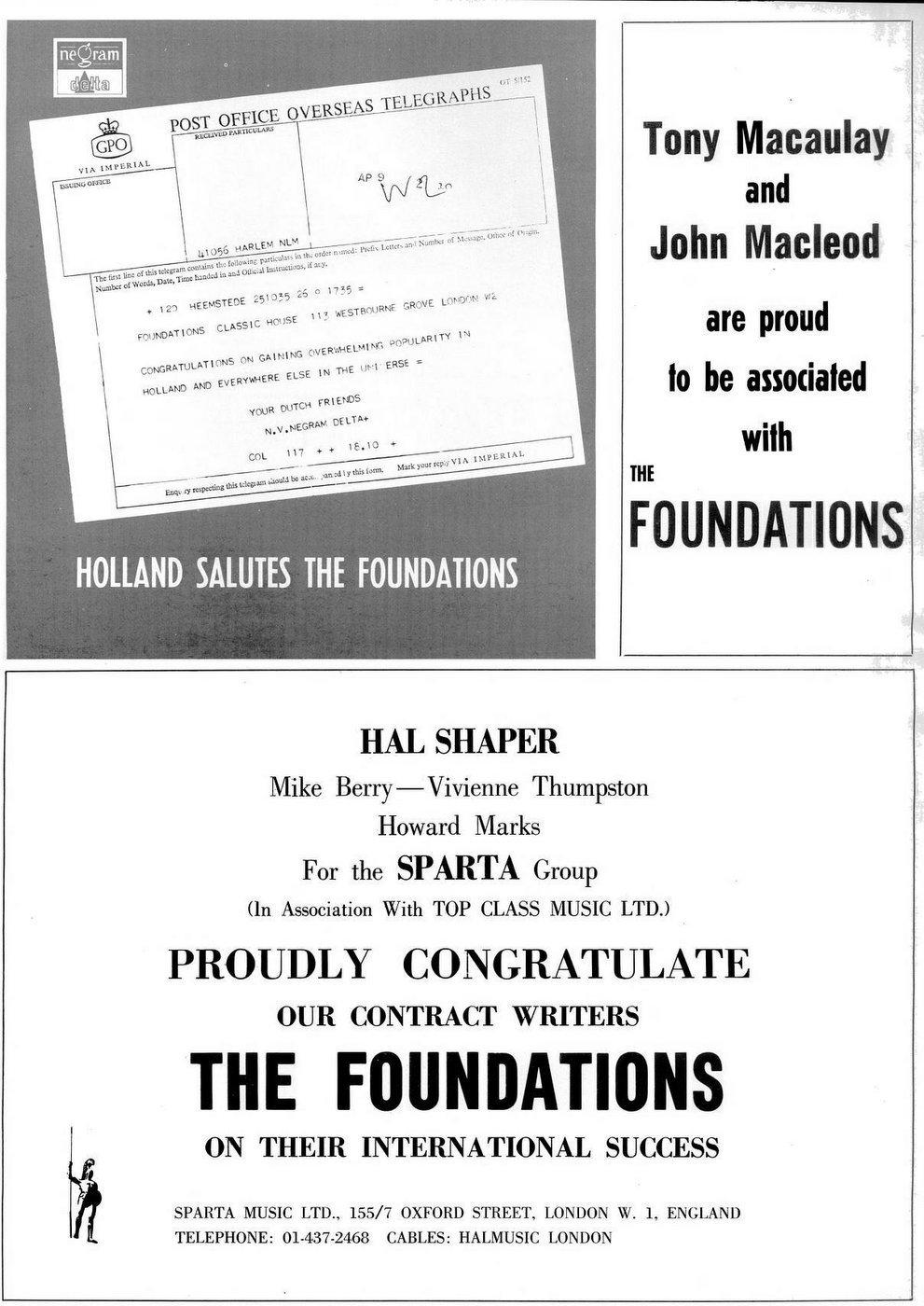 Congrats to the Foundations 1969