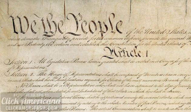 The original Constitution of the United States (1787)