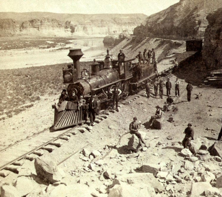 Construction Train near Green River, Dakota Territory - Wyoming