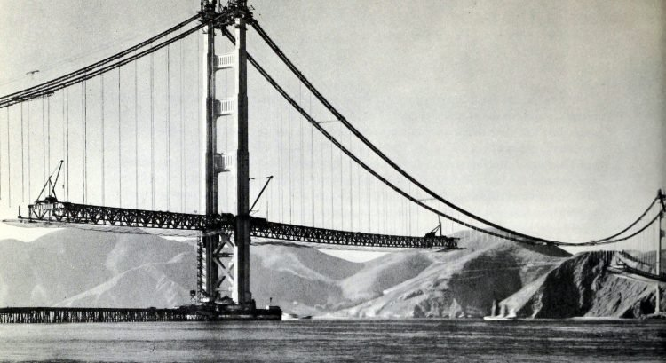 Construction of the Golden Gate Bridge - 1930s (2)