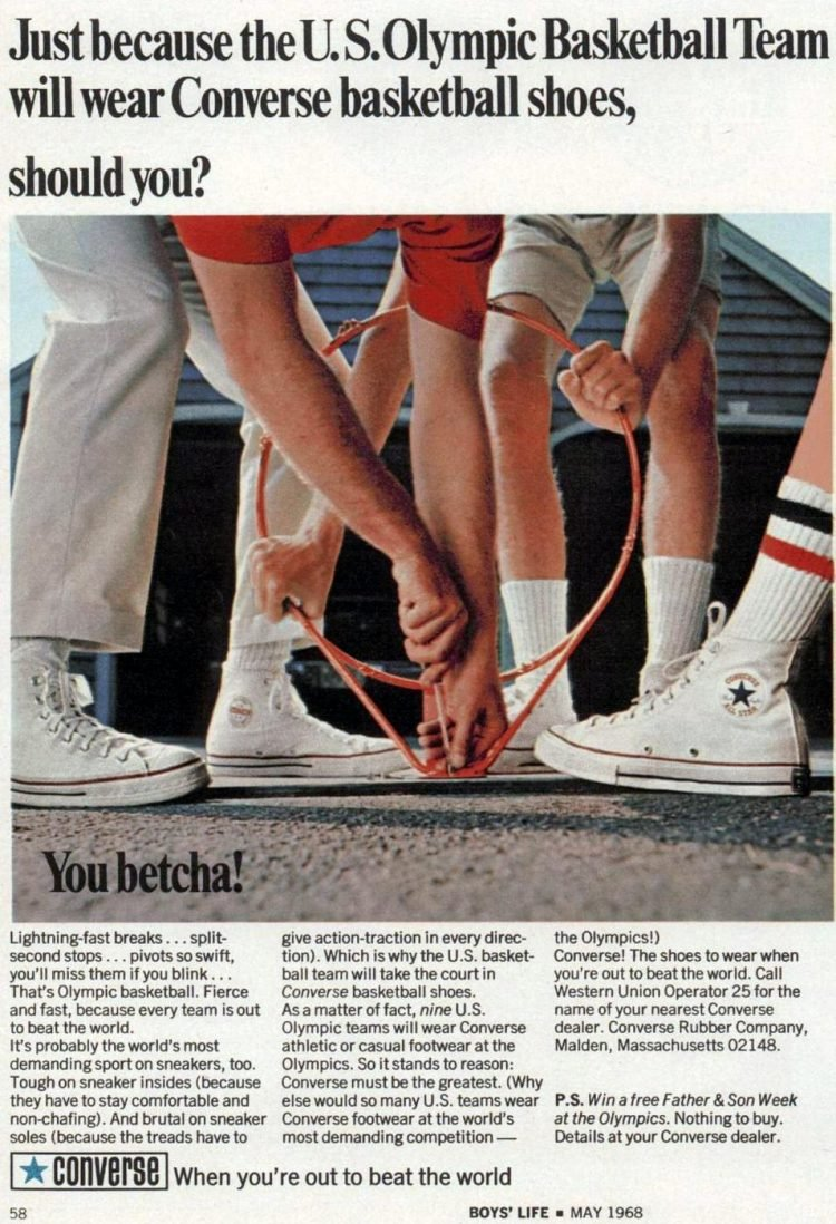 Converse basketball shoes from 1968