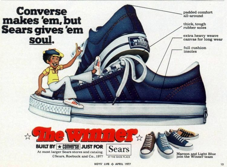 Converse shoes by Sears 1977