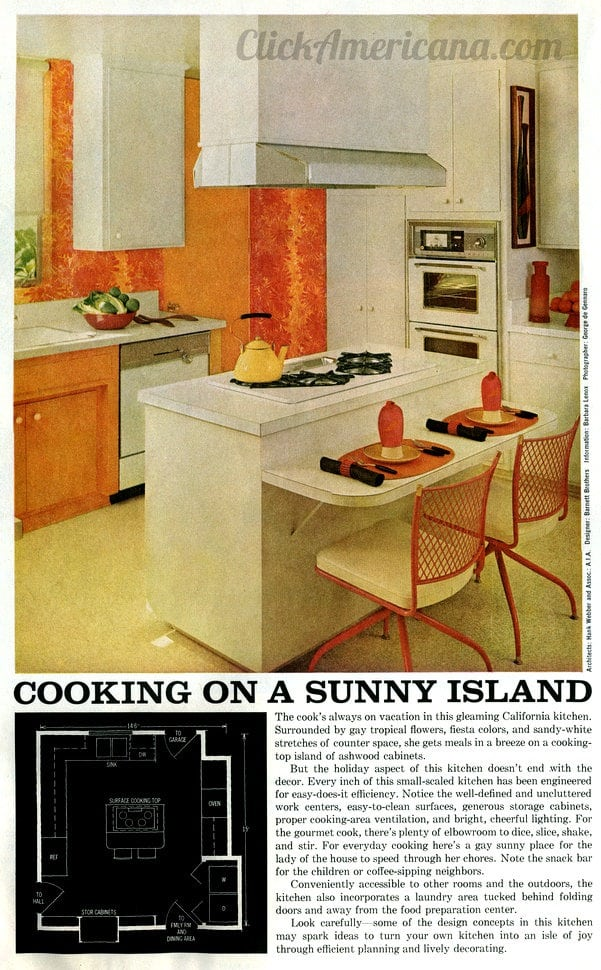 kitchen ideas for decorating cooking on a island 1965 click americana 19631