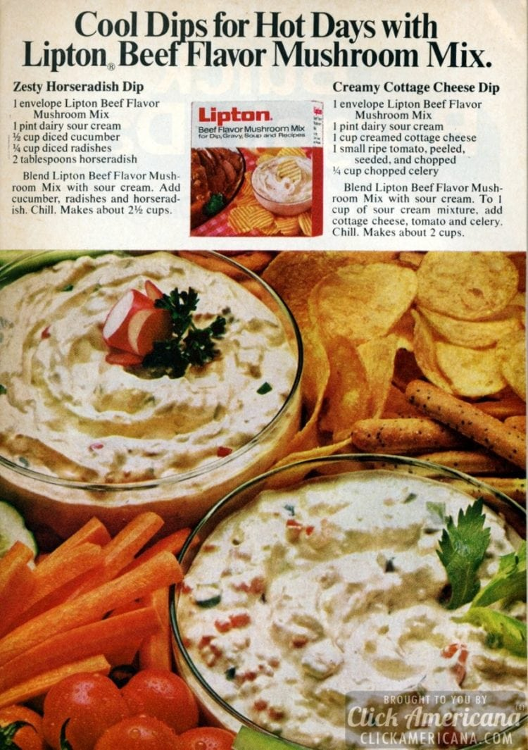 Zesty Horseradish Dip & Creamy Cottage Cheese Dip recipes