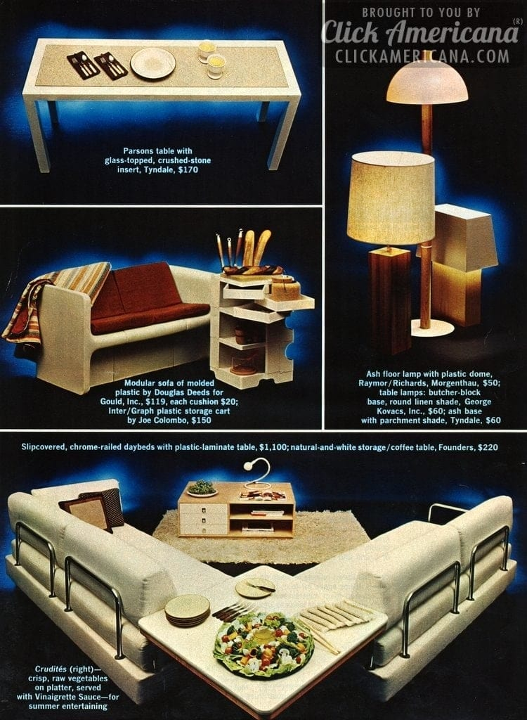 Cool living with pale tones Light furnishings 1972 (2)