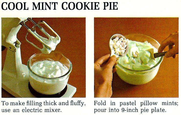Cool mint cookie pie recipe from 1975