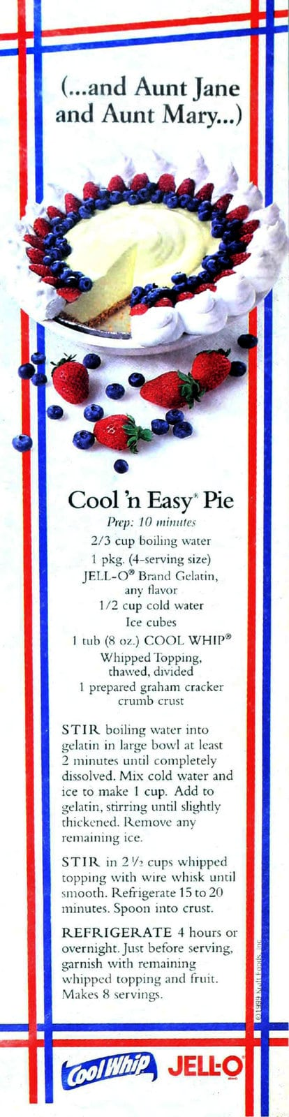 Cool 'n' easy 4th of July pie recipe