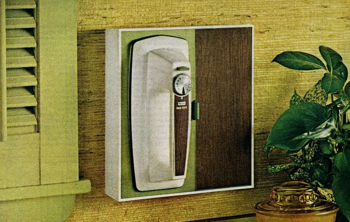 Cool retro kitchen features from 1969 - In-wall space-saving mixer