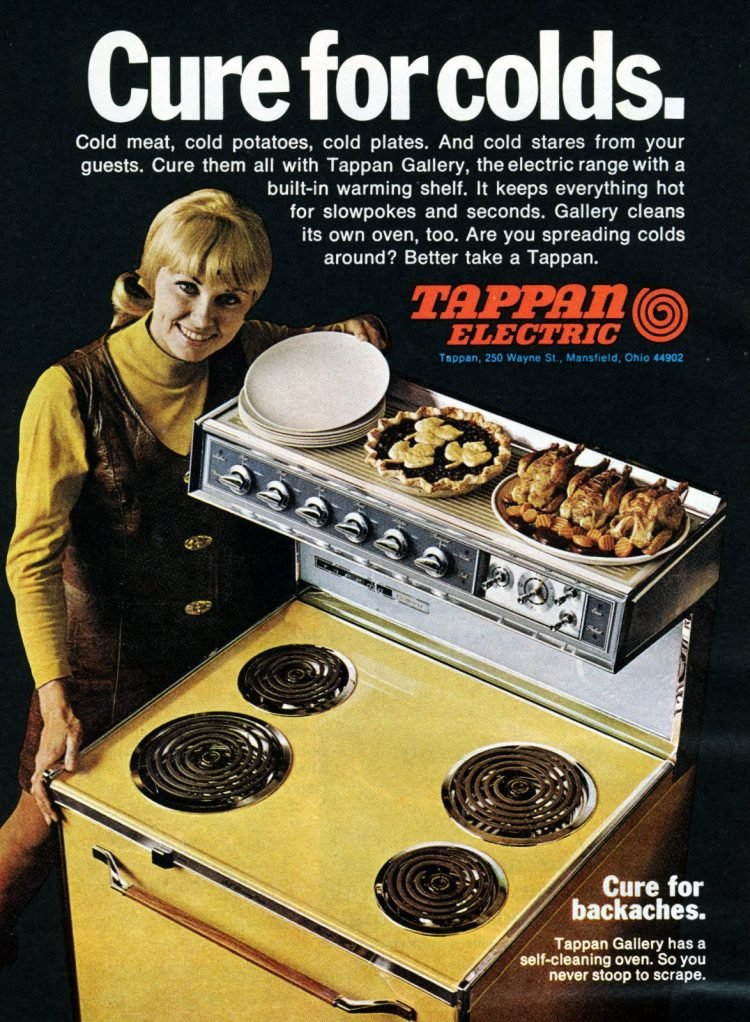 Cool retro kitchen features from 1970 - Range with a warming shelf
