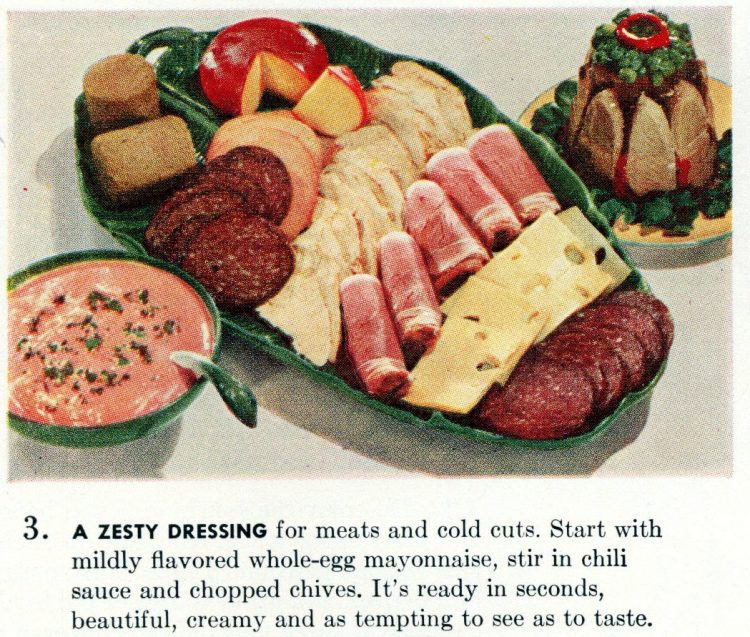Cool summer recipes from 1955 - A zesty dressing for meats and cold cuts