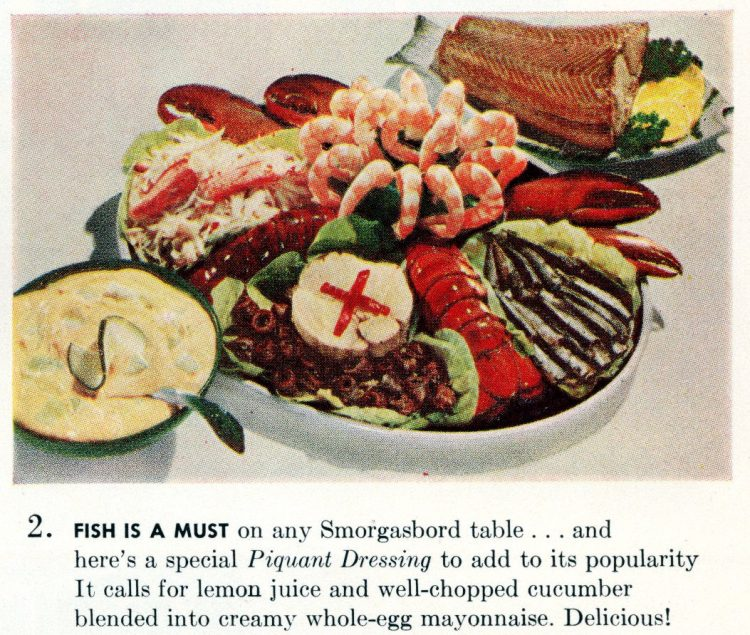 Cool summer recipes from 1955 - Fish is a must on any Smorgasbord table