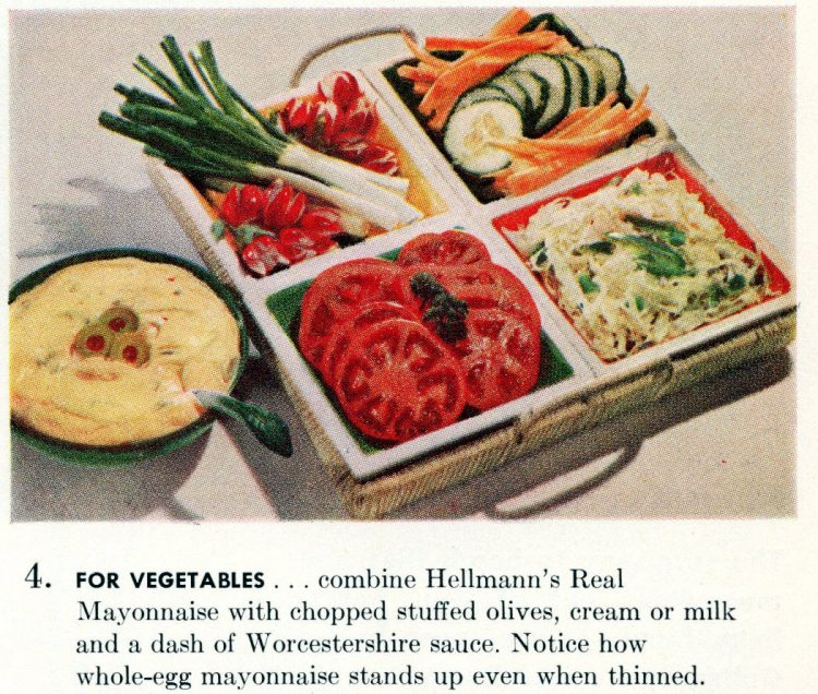 Cool summer recipes from 1955 - For vegetables