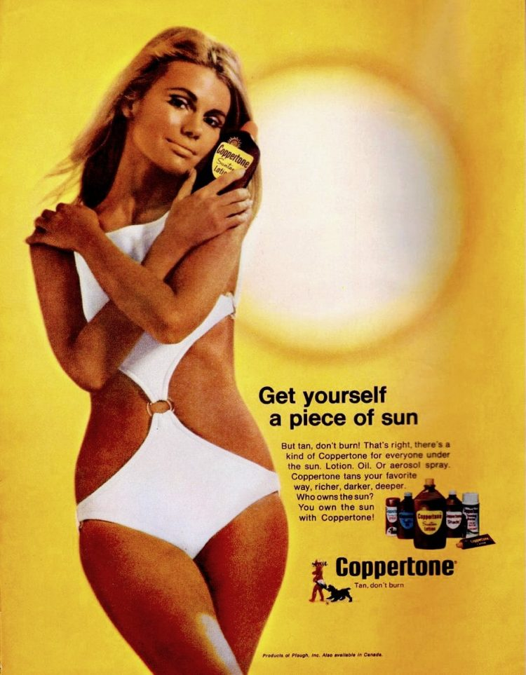 Coppertone tan from 1969