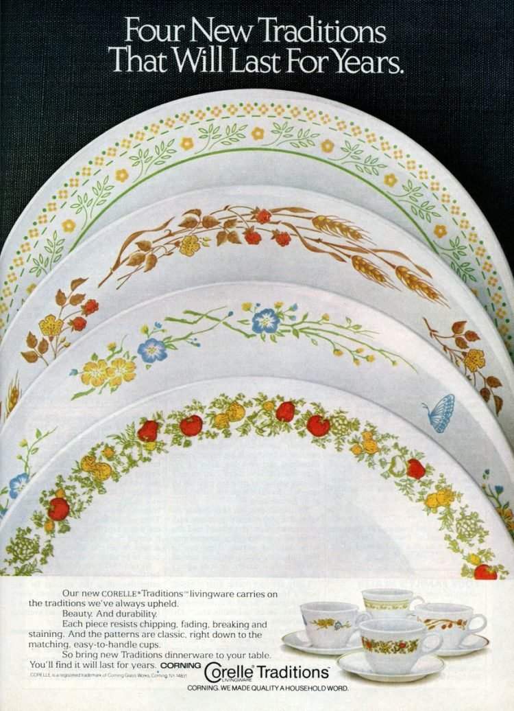 Corelle - Corningware dishes - Vintage from 1980s (1)
