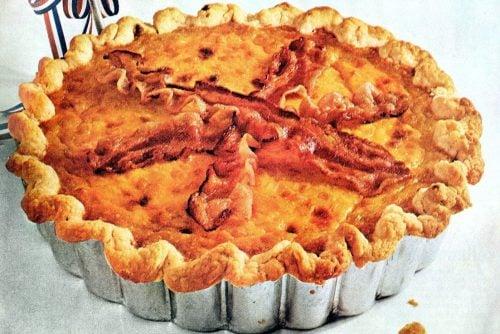 Corn Lorraine quiche recipe from 1965