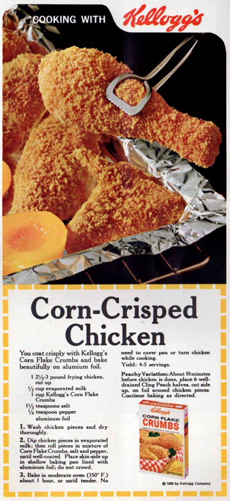 Corn-crisped chicken vintage recipe