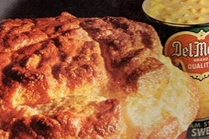 Corn souffle, made with cream-style corn recipe from 1968 (1)