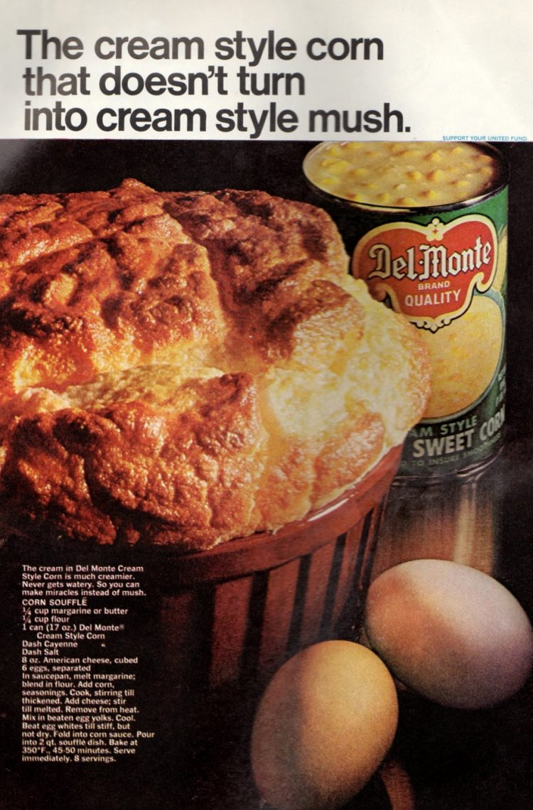 Corn souffle, made with cream-style corn recipe from 1968 (2)
