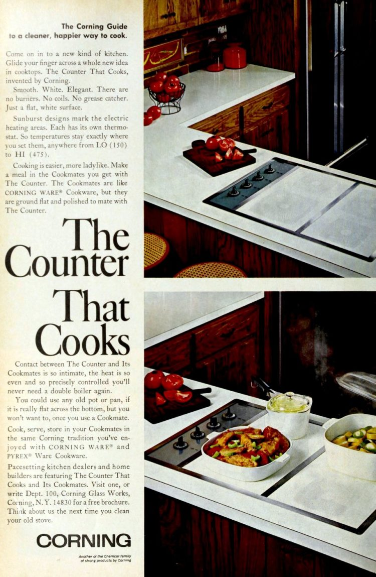 Corning - The counter that cooks - smooth stoves from 1968