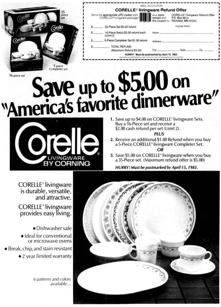 Corningware Corelle Livingware 1983
