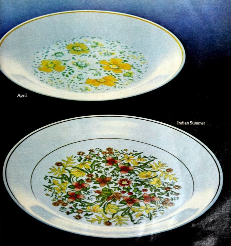 Corningware Corelle plates from 1981 (2)